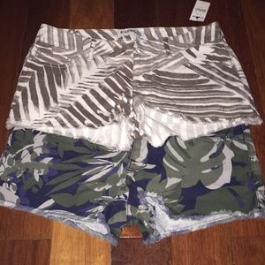 NWT- Two pairs express shorts . Size 0